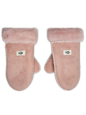 Ugg Ugg Детски ръкавици K Sheepskin Mitten W Stitch 20095 Розов