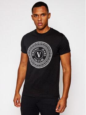 Versace Jeans Couture Versace Jeans Couture Тишърт B3GWA7TD Черен Slim Fit