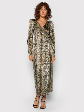 ROTATE ROTATE Koktejlové šaty Bridget Long Dress RT523 Hnedá Regular Fit