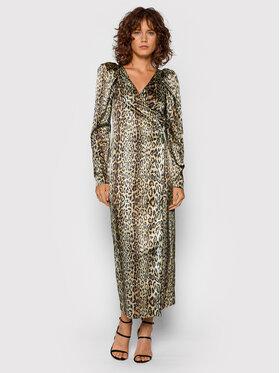 ROTATE ROTATE Sukienka koktajlowa Bridget Long Dress RT523 Brązowy Regular Fit