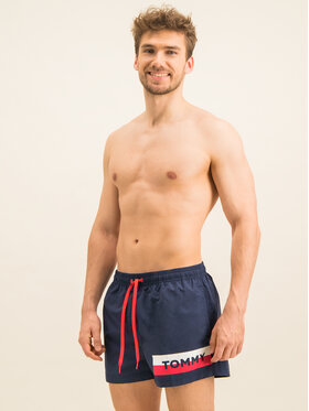 Tommy Hilfiger Tommy Hilfiger Σορτς κολύμβησης Short Drawstring UM0UM01700 Σκούρο μπλε Regular Fit
