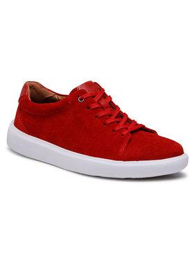 Clarks Clarks Sneakersy Cambro Low 261582297 Czerwony