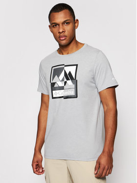 Columbia Columbia T-Shirt Alpine Way Graphic Tee 1888893 Šedá Regular Fit