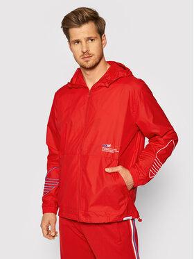 adidas adidas Větrovka adicolor FTO GN3561 Červená Regular Fit