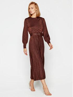 Marella Marella Koktejlové šaty Kibbutz 36260208 Hnědá Regular Fit
