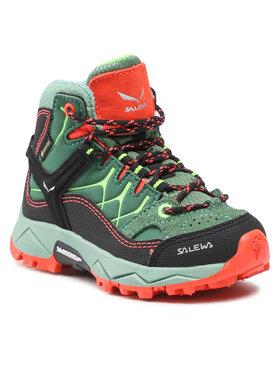 Salewa Salewa Trekingová obuv Jr Alp Trainer MId Gtx GORE-TEX 5960 Zelená