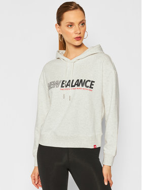 New Balance New Balance Bluza Essentials Speed WT03508 Szary Relaxed Fit