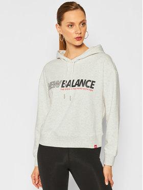New Balance New Balance Majica dugih rukava Essentials Speed WT03508 Siva Relaxed Fit