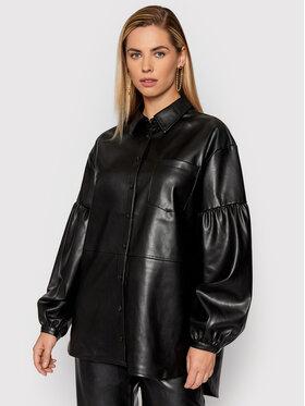 NA-KD NA-KD Koszula 1018-007353-0002-581 Czarny Oversize