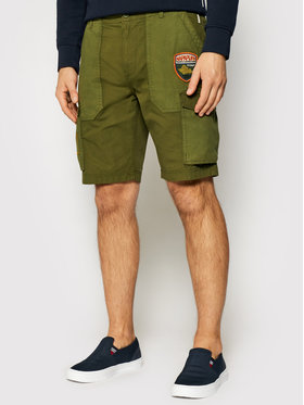 Napapijri Napapijri Pantalon scurți din material Nelli NP0A4F5V Verde Regular Fit