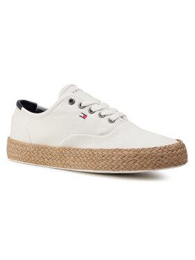 TOMMY HILFIGER TOMMY HILFIGER Sneakersy Core Oxford Twill Jute Sneaker FM0FM02883 Béžová
