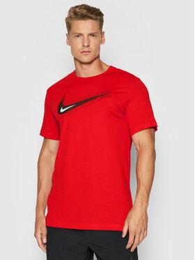 Nike Nike T-Shirt Nsw Swoosh DB6470 Červená Standard Fit
