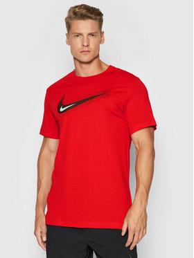 Nike Nike T-Shirt Nsw Swoosh DB6470 Czerwony Standard Fit