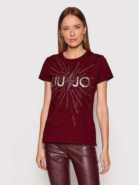 Liu Jo Liu Jo T-shirt WF1449 J6287 Tamnocrvena Regular Fit
