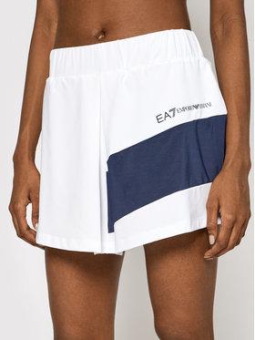 EA7 Emporio Armani EA7 Emporio Armani Short de sport 3KTN51 TJ56Z 1100 Blanc Regular Fit