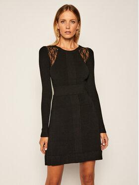 Pinko Pinko Džemper haljina Somalia AI 20-21 BLK01 1G156H Y6F9 Crna Regular Fit