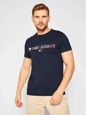 Tommy Hilfiger Tommy Hilfiger T-shirt Mirrored Flags MW0MW15325 Blu scuro Regular Fit