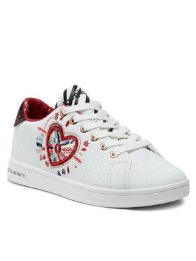 Desigual Desigual Laisvalaikio batai Shoes Cosmic Heart 21WSKP07 Balta