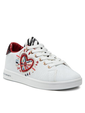 Desigual Desigual Sneakers Shoes Cosmic Heart 21WSKP07 Alb