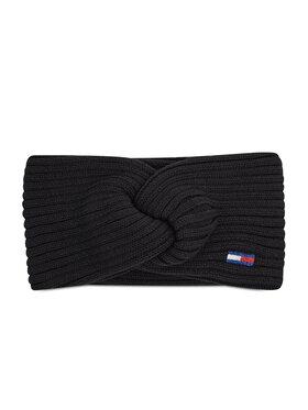Tommy Jeans Tommy Jeans Opaska materiałowa Tjw Ess Flag Headband AW0AW10706 Czarny