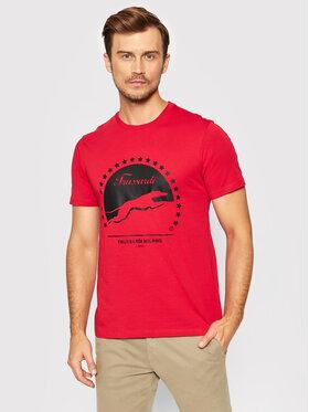 Trussardi Trussardi T-shirt 52T00449 Rosso Regular Fit