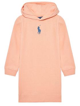 Polo Ralph Lauren Polo Ralph Lauren Sukienka codzienna Hood Flc Drs 311837221003 Pomarańczowy Regular Fit