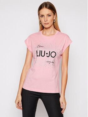 Liu Jo Liu Jo T-Shirt WA1327 J0094 Różowy Regular Fit
