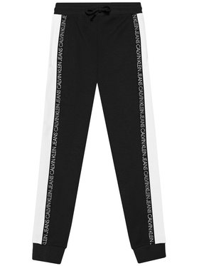 Calvin Klein Jeans Calvin Klein Jeans Spodnie dresowe Colour Block IB0IB00866 Czarny Regular Fit