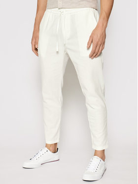 Only & Sons Only & Sons Pantaloni din material Linus 22019789 Alb Regular Fit