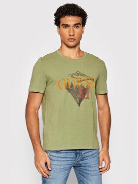 Guess Guess T-Shirt M1BI28 J1311 Zelená Slim Fit