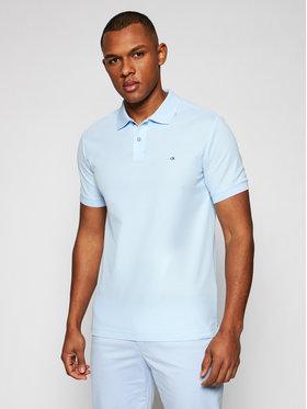 Calvin Klein Calvin Klein Polokošeľa Refined Pique Logo K10K102758 Modrá Slim Fit