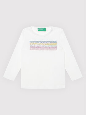 United Colors Of Benetton United Colors Of Benetton Blusa 3I9WC15BX Bianco Regular Fit
