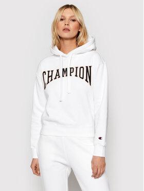 Champion Champion Bluza Collegiate Logo 114766 Biały Custom Fit
