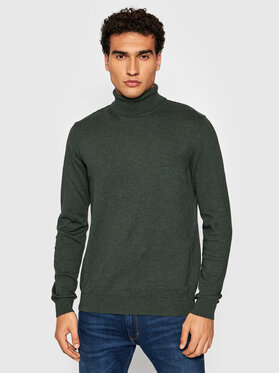 Selected Homme Selected Homme Pull à col roulé Berg 16074684 Vert Regular Fit
