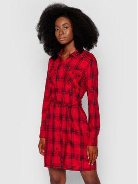 Pepe Jeans Pepe Jeans Košilové šaty Tere PL952961 Červená Regular Fit