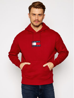 Tommy Jeans Tommy Jeans Sweatshirt Small Flag DM0DM08726 Rot Regular Fit