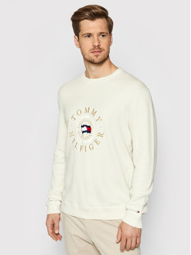 Tommy Hilfiger Tommy Hilfiger Sweter Structured Graphic MW0MW17363 Beżowy Regular Fit