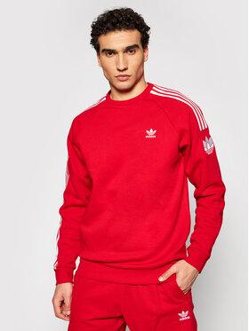 adidas adidas Bluză Loungewear adicolor 3D Trefoil 3-Stripes GN3544 Roșu Regular Fit