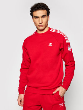 adidas adidas Pulóver Loungewear adicolor 3D Trefoil 3-Stripes GN3544 Piros Regular Fit