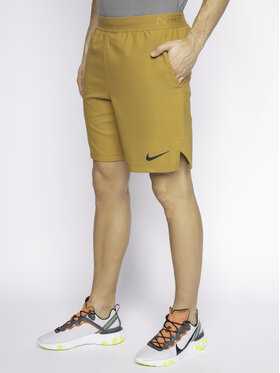 NIKE NIKE Pantaloncini sportivi Pro Flex Vent Max CJ1957 Marrone Standard Fit