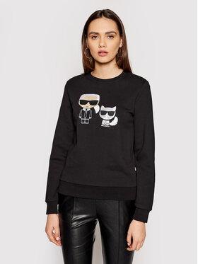 KARL LAGERFELD KARL LAGERFELD Sweatshirt Ikonik&Choupette 210W1821 Schwarz Regular Fit