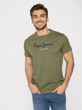 Pepe Jeans Pepe Jeans T-Shirt Eggo PM500465 Zelená Regular Fit