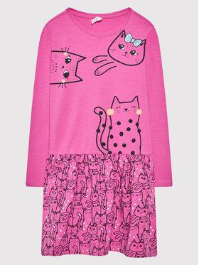 Coccodrillo Coccodrillo Sukienka codzienna ZC1129101MEO Różowy Regular Fit