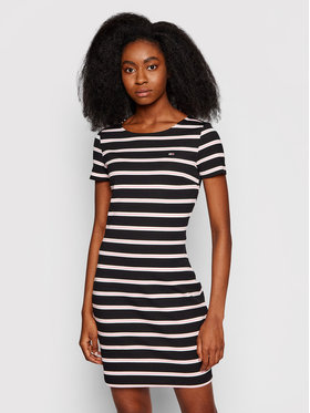 Tommy Jeans Tommy Jeans Sukienka codzienna Tjw Striped Bodycon DW0DW10206 Czarny Regular Fit