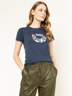 Pepe Jeans Pepe Jeans Marškinėliai Cadee PL504334 Tamsiai mėlyna Slim Fit