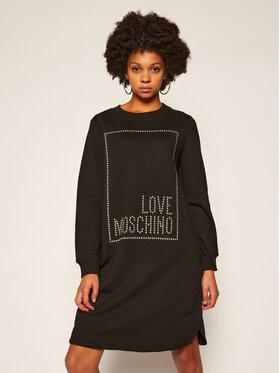 LOVE MOSCHINO LOVE MOSCHINO Sukienka dzianinowa W5B9701M 4055 Czarny Regular Fit