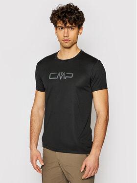 CMP CMP Koszulka techniczna 39T7117P Czarny Regular Fit