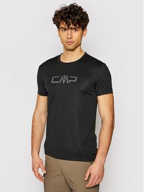 CMP CMP Тениска от техническо трико 39T7117P Черен Regular Fit