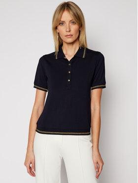 Luisa Spagnoli Luisa Spagnoli Тениска с яка и копчета Biglietto 0660563 Тъмносин Regular Fit