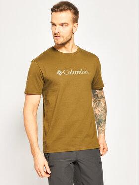 Columbia Columbia T-Shirt Csc Basic Logo 1680053 Zelená Regular Fit